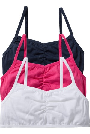 Bpc Bonprix Collection Kız Çocuk Beyaz Büstiyer (3Lü Pakette)