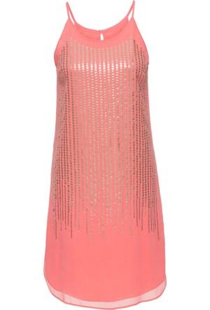 Bodyflirt Kadın Boutique Pembe Payetli Elbise