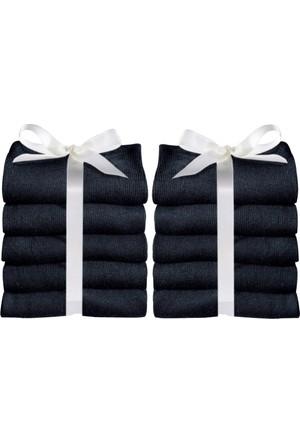 Bonprix Kadın Siyah Go In Çorabı (10Lu Pakette)