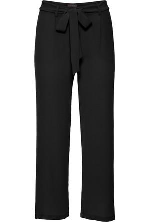 Bodyflirt Siyah Bol Kesim Kısa Paça Pantolon