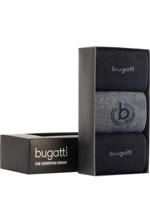 Bugatti Erkek Siyah Çorabı (3Lü Pakette)