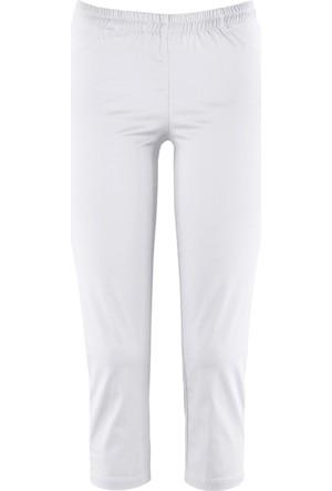 Bpc Bonprix Collection Kadın Beyaz Kapri Tayt Pantolon