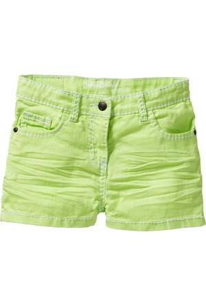 John Baner Jeanswear Kız Çocuk Yeşil Kırışık Görünümde Şort