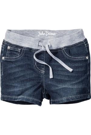 John Baner Jeanswear Kız Çocuk Mavi Beli Esnek Yumuşacık Şort