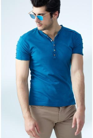 FullaModa Düğmeli T-Shirt 17Y17DMRBRAND0009334