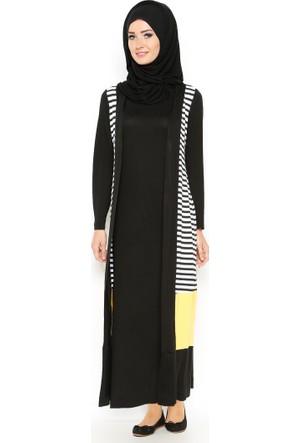 Hırka & Elbise 2'li Takım - Sarı - Bwest