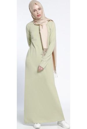 Natürel Kumaşlı Spor Elbise - Açık Yeşil - Everyday Basic