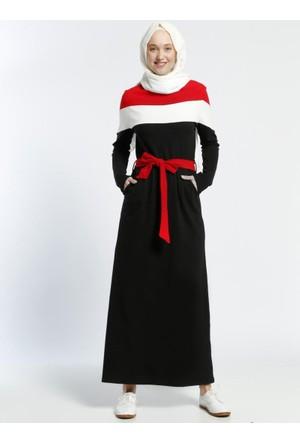Natürel Kumaşlı Spor Elbise - Siyah - Benin