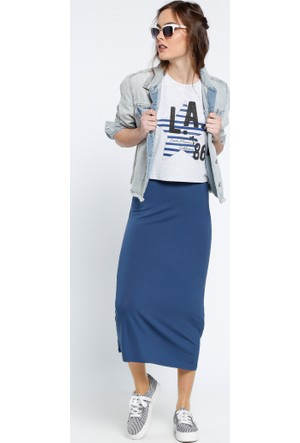 Kolsuz Elbise & Tişört 2'li Takım - Lacivert Gri - Koton