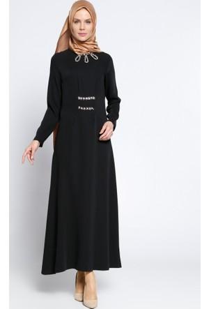Taş Detaylı Elbise - Siyah - Zinet
