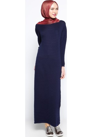 Mevsimlik Elbise - Lacivert - Zentoni