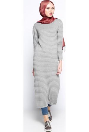 Mevsimlik Elbise - Gri - Zentoni