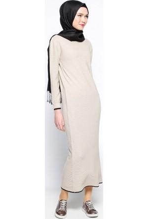 Mevsimlik Elbise - Bej - Zentoni