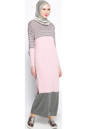 Mevsimlik Elbise - Pudra - Zentoni