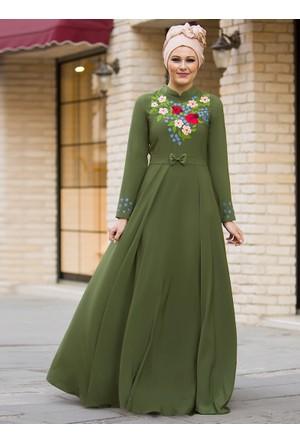 Bahar Elbise - Haki - Gizem Kış