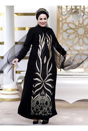 Sultan Abiye Elbise - Siyah - Nesrin Emniyetli
