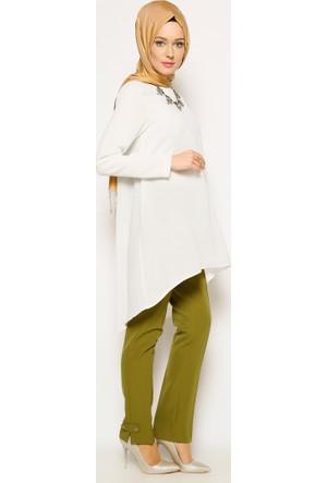Klasik Pantolon - Yağ Yeşili - Modesty