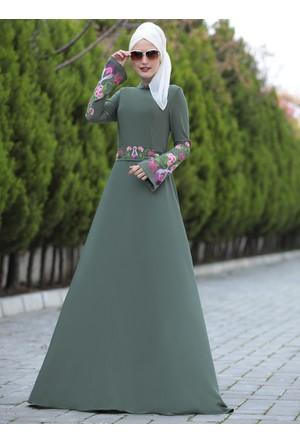 Lale Elbise - Haki - Selma Sarı Design