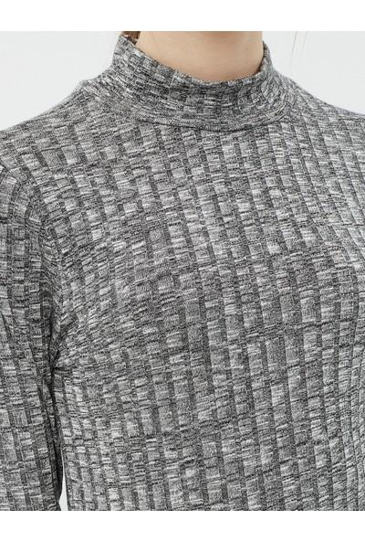 Koton Kadın Uzun Kol Sweatshirt Gri