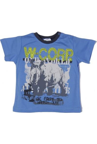 Soobe Safari Erkek Çocuk Kısa Kol T-Shirt Mavi