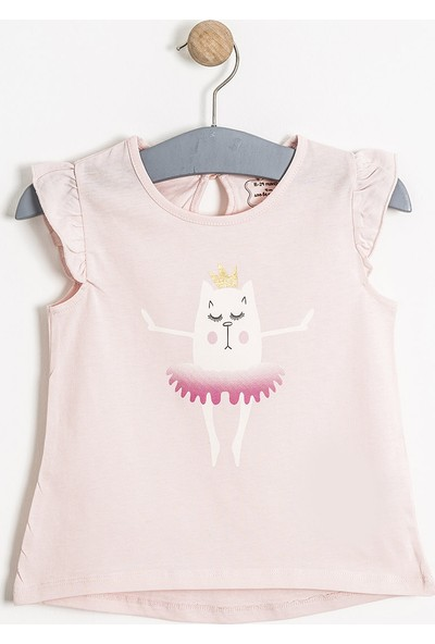 Soobe Pop Girls Balerin Kedi Kısa Kol T-Shirt Pink Lady