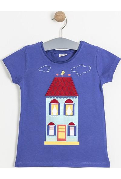 Soobe Pop Girls Ev Kısa Kol T-Shirt Pulm Blue