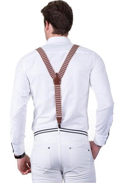 Tudors Desenli Krem Pantolon Askısı
