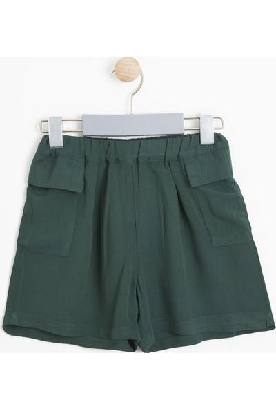 Soobe Kız Çocuk Şort Yeşil