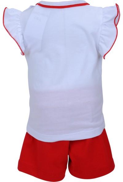 Zeyland Kız Çocuk Beyaz T-shirt + Şort Takım - 71M2MRE76