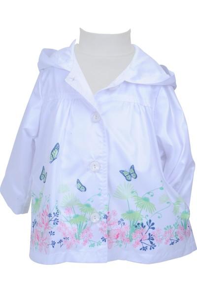 Zeyland Kız Çocuk Beyaz Yağmurluk - 71M2YSR22