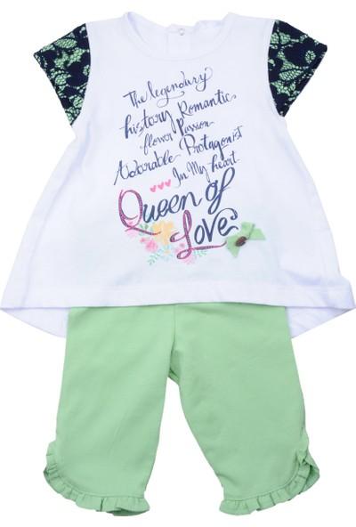 Zeyland Kız Çocuk Beyaz Tunik + Tayt Takım - 71M2YSR76