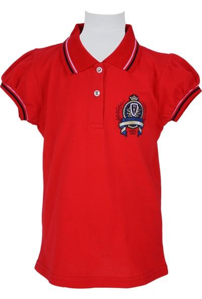 Zeyland Kız Çocuk Kırmızı Polo Yaka T-Shirt - 71M4CRE53