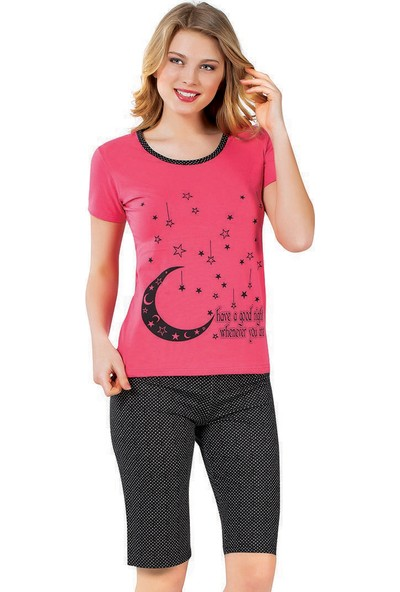 Kapri Pijama Takımı - Nar Çiçeği - Akbeniz