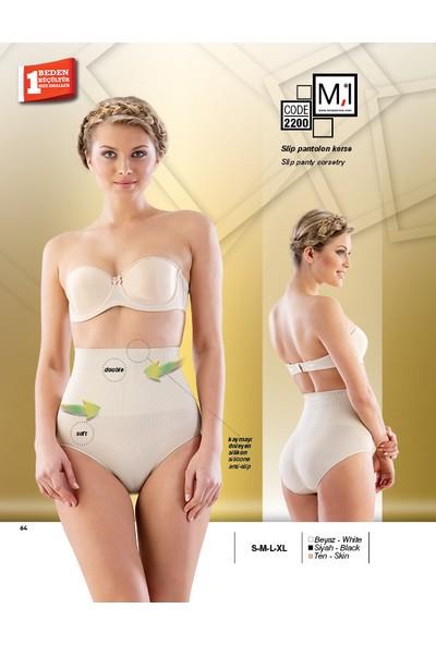 Emay Kaymayı Önleyen Silikonlu Slip Pantalon Korse - 2200