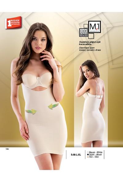 Emay Seamless (Dikişsiz) Göğsü Açık Korse Elbise - 5060