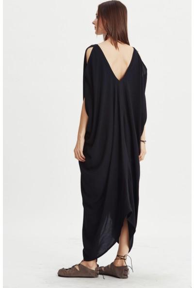 Los Banditos Kadın Siyah Bodrum Elbise E09