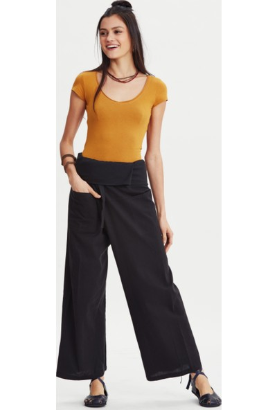 Los Banditos Kadın Siyah Balıkçı Pantolon P08