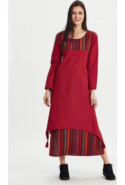 Los Banditos Kadın Kırmızı Galata Elbise E70