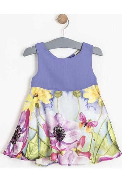 Soobe Monets Garden Kolsuz Elbise Lila