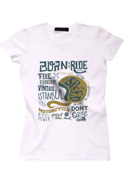The Chalcedon Born To Ride Siyah Bayan Tshirt