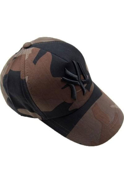 Outlet Çarşım Erkek Ny Kamuflaj Kep Şapka