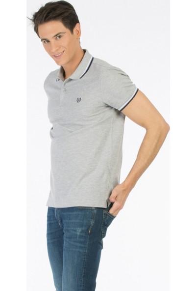 Colin's Gri Erkek Polo T-Shirt Kısa Kol Gri Melanj