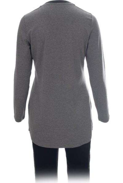 Voimoda Deri Yaka, Taş Detaylı Uzun Kol Bluz