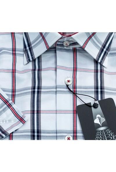 Sude Klasik Pamuklu Erkek Gömlek Kısa Kollu - Cepli 31950