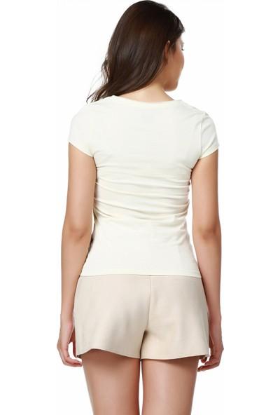 Mumu Zebra - Berna Noyan Tasarımı Gen's Yaka Kadın T-Shirt