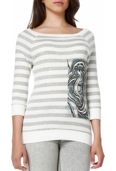 Mumu Deniz Atı - Berna Noyan Tasarımı Crop Top Kadın Bluz