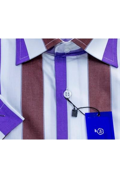 Bisente Pamuklu Erkek Gömlek Düz Kısa Kollu Cepli 42026