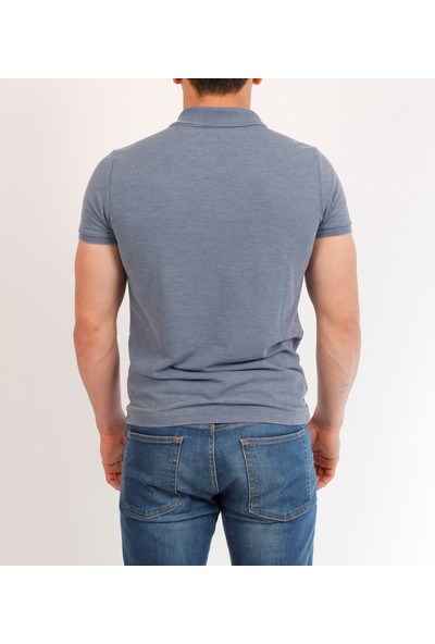 Loft Polo Yaka Erkek T-Shirt Mavi 2007514