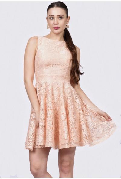 İroni Dantel Kloş Elbise