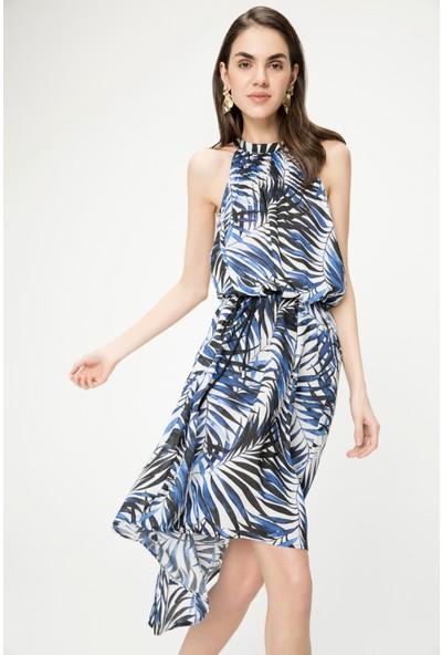 Just Like You 058 Yaprak Desen Elbise